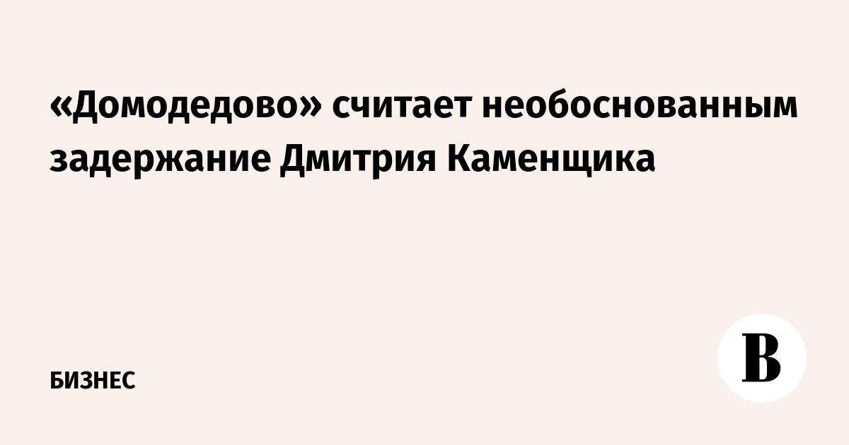 «Домодедово» считает необоснованным задержание Дмитрия Каменщика
