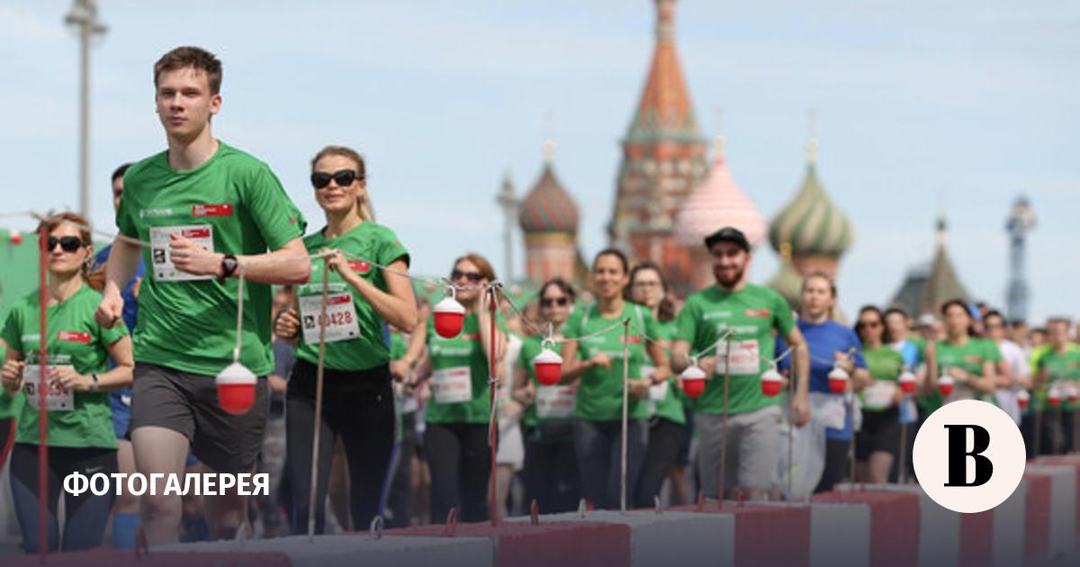 Марафон «Бегущие сердца» прошел в центре Москвы