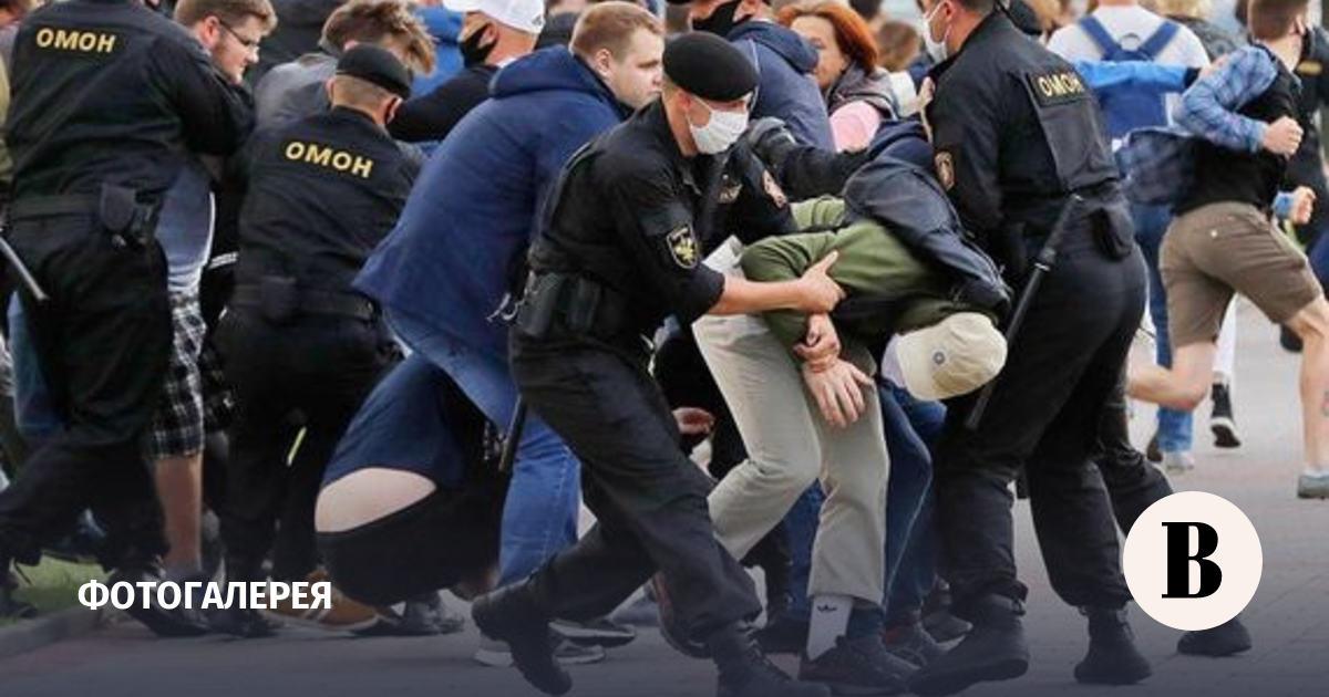 Акции протеста на улицах Белоруссии. Фотографии