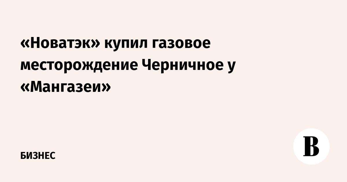 «Новатэк» купил газовое месторождение Черничное у «Мангазеи»
