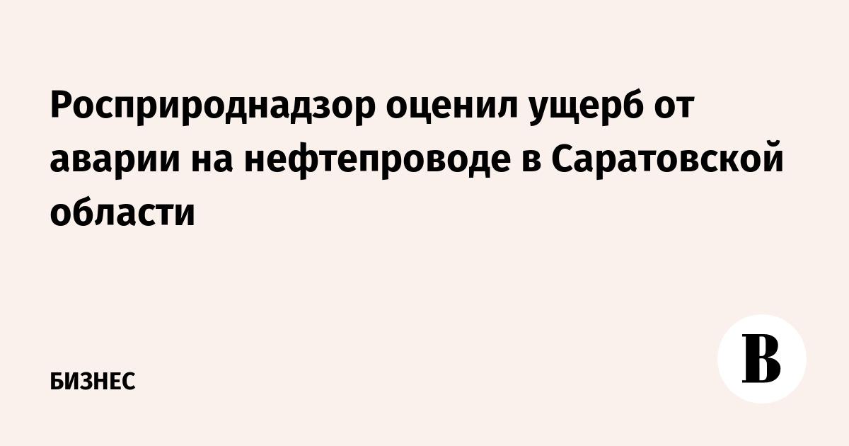 Росприроднадзор оценил ущерб от аварии на нефтепроводе в Саратовской области