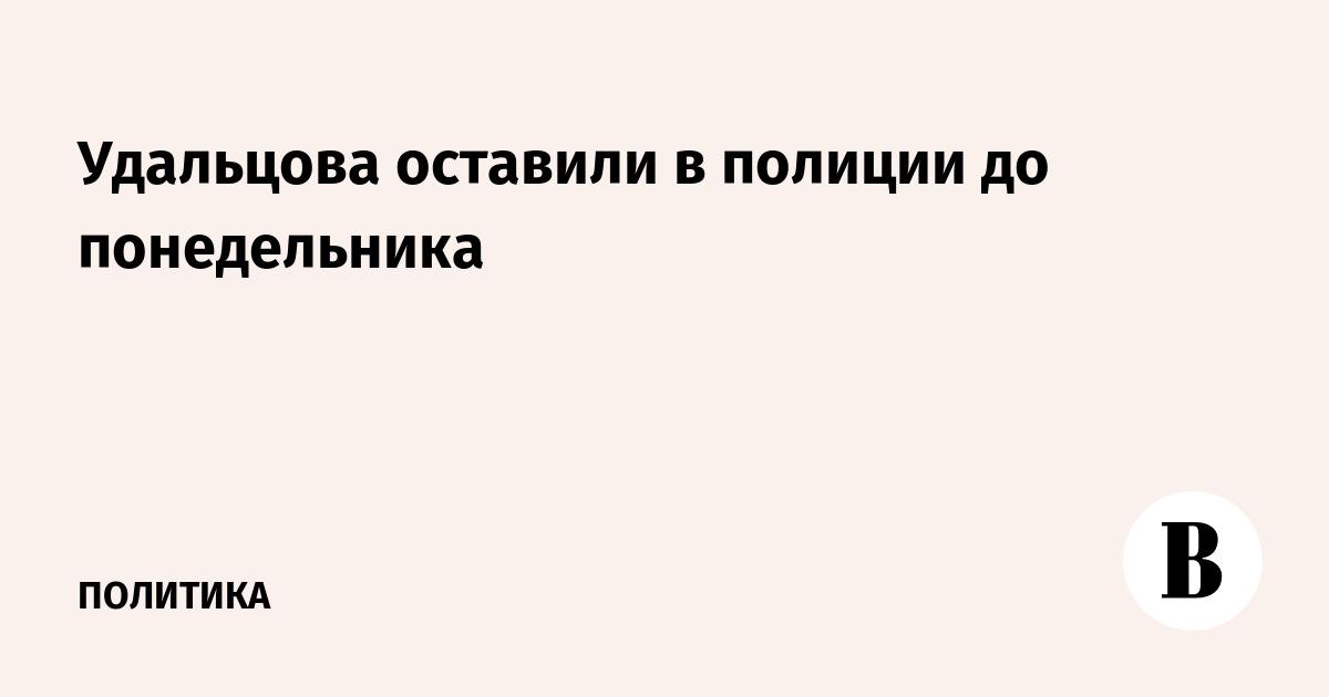 Удальцова оставили в полиции до понедельника