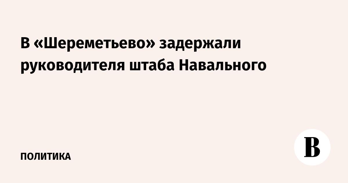 В «Шереметьево» задержали руководителя штаба Навального
