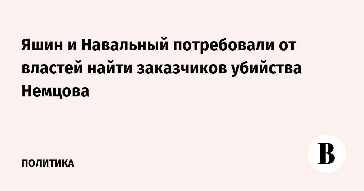 Яшин и Навальный потребовали от властей найти заказчиков убийства Немцова