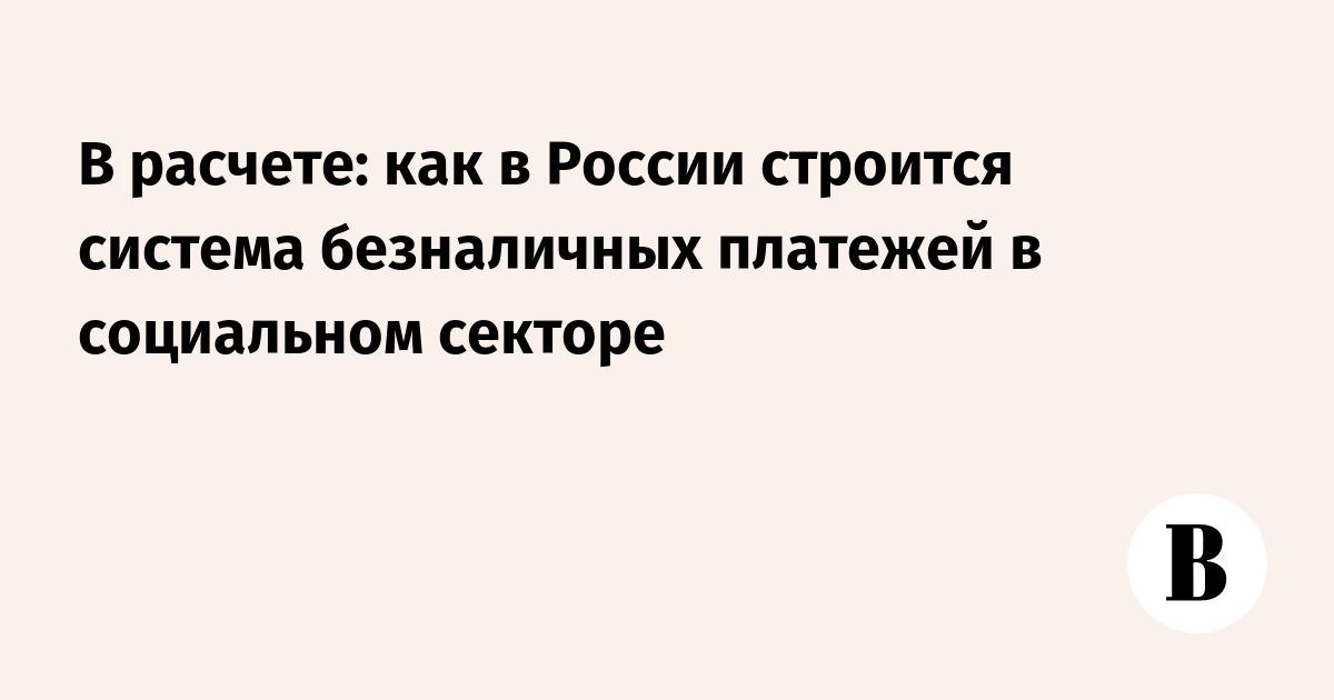 В расчете: как в России строится система безналичных платежей в социальном секторе